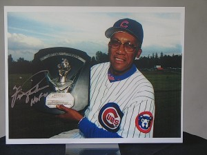 Fergie Jenkins with Cy Young at Hall of Fame